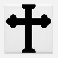 Budded Cross Tile Coaster