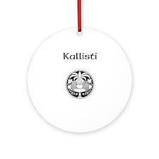 Kallisti Logo Ornament (Round)