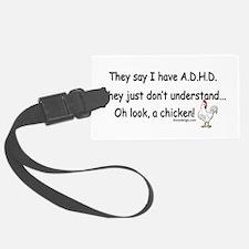ADHD Chicken Luggage Tag