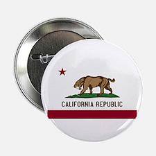 """Smilodon California Flag 2.25"""" Button"""