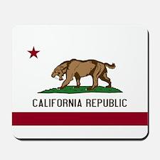 Smilodon California Flag Mousepad