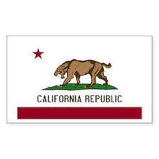 Smilodon California Flag Decal