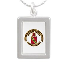 Army - DS - 43RD ADA RGT Silver Portrait Necklace