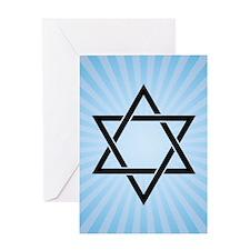 blue star of david Greeting Cards