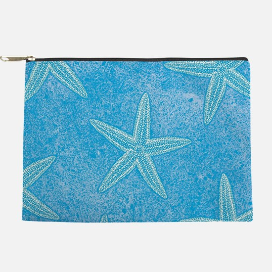 Blue Starfish Pattern Makeup Pouch