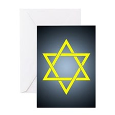 gold star of david Greeting Cards