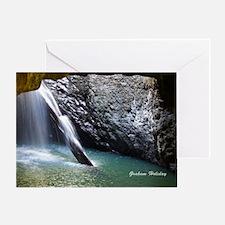 Natural Arch Waterfall Greeting Card