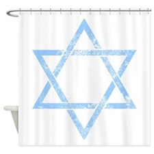 grunge star of david Shower Curtain