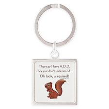 ADD Squirrel Square Keychain