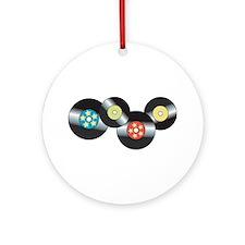 LP Records Ornament (Round)
