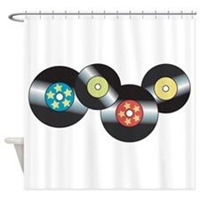 LP Records Shower Curtain