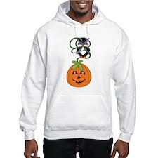 Adorable Halloween Owl and Pumpkin Hoodie