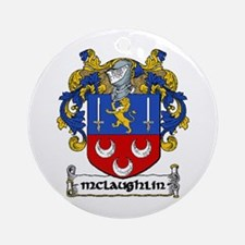 McLaughlin Coat of Arms Ornament (Round)