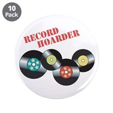 """Record Hoarder 3.5"""" Button (10 pack)"""