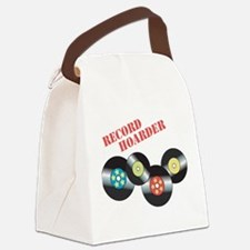 Record Hoarder Canvas Lunch Bag