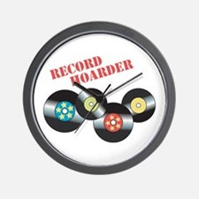 Record Hoarder Wall Clock