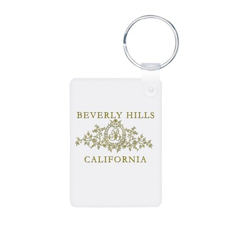 Beverly Hills CA Aluminum Photo Keychain