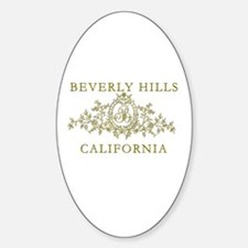 Beverly Hills CA Sticker (Oval)