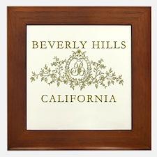 Beverly Hills CA Framed Tile