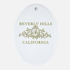 Beverly Hills CA Ornament (Oval)