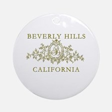 Beverly Hills CA Ornament (Round)