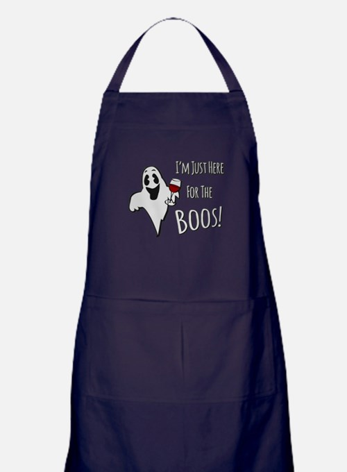 Im Here for the Boos Apron (dark)