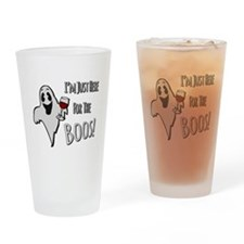 Im Here for the Boos Drinking Glass