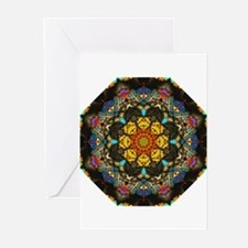 Thin Section Kaleidoscope Greeting Cards (Package