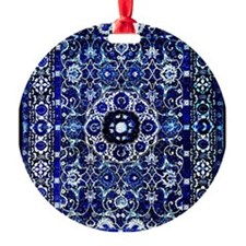 Oriental Rug Electric Blue Ornament