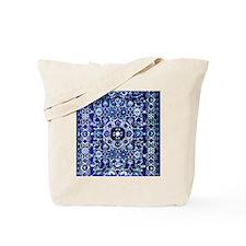 Oriental Rug Electric Blue Tote Bag
