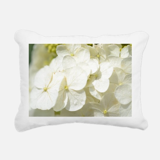 Hydrangeas in the Sun Rectangular Canvas Pillow