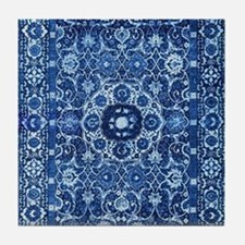Oriental Rug Blue Tile Coaster