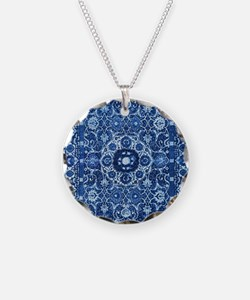 Oriental Rug Blue Necklace