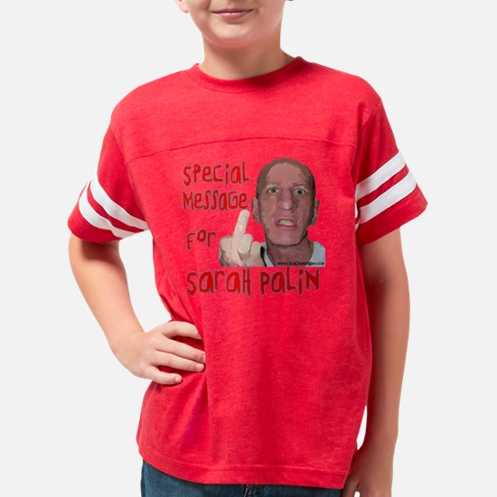 Old Pissed Off Man - Message  Youth Football Shirt