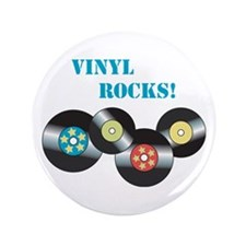 "Vinyl Rocks 3.5"" Button"