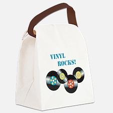 Vinyl Rocks Canvas Lunch Bag