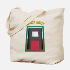 SSI - First Army with Text Tote Bag