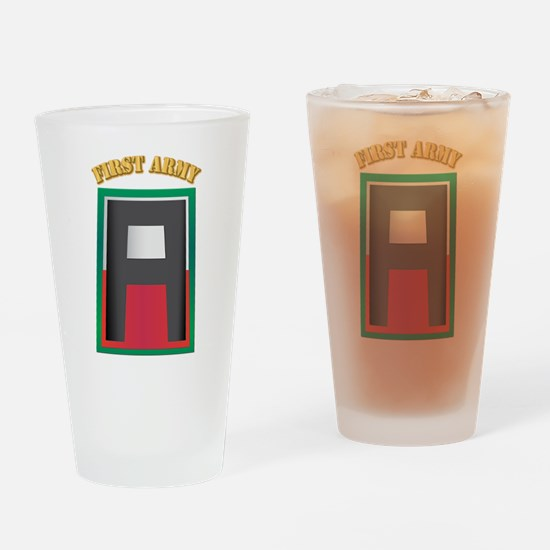 SSI - First Army with Text Drinking Glass