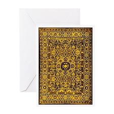 Oriental Rug Brown Greeting Card