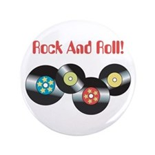 "Rock And Roll 3.5"" Button"