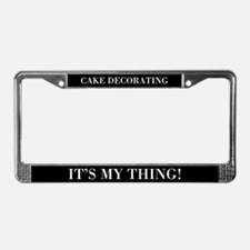 Cake Decorating License Plate Frame