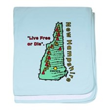 New Hampshire - Live Free or Die baby blanket