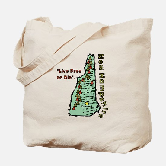 New Hampshire - Live Free or Die Tote Bag