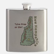 New Hampshire - Live Free or Die Flask