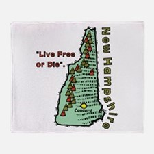 New Hampshire - Live Free or Die Throw Blanket