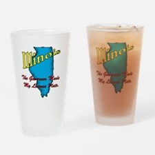 Illinois Motto - The Governor Drinking Glass