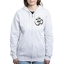 Yoga Ohm, Om Symbol Zip Hoodie