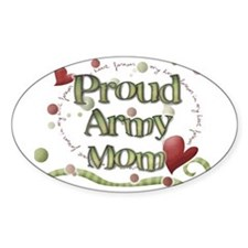 Proud Army Mom whimsy Decal