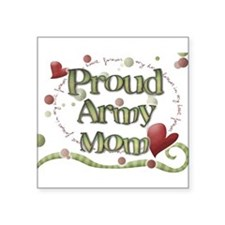 Proud Army Mom whimsy Sticker