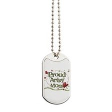 Proud Army Mom whimsy Dog Tags